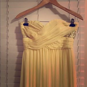Beautiful yellow gown